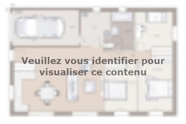 Plan de maison Optima 90GI Tradition 3 chambres  : Photo 1