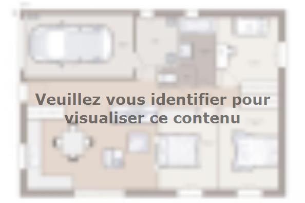 Plan de maison Optima 80GI Tradition 3 chambres  : Photo 1