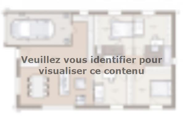 Plan de maison Optima 100GI Tradition 4 chambres  : Photo 1