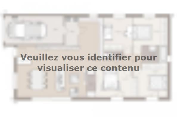 Plan de maison Optima 110GI Tradition 4 chambres  : Photo 1
