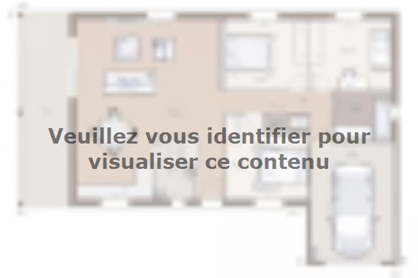 Plan de maison Lumina 90GI Design 3 chambres  : Photo 1