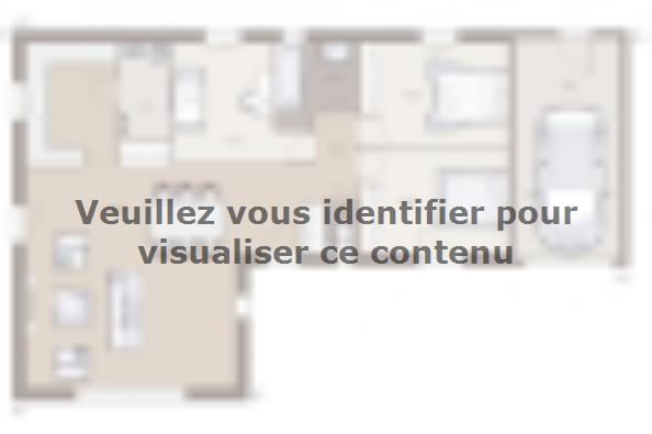 Plan de maison Lumina 95GI Design 3 chambres  : Photo 1