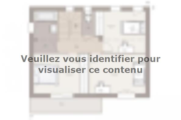 Plan de maison Bioclima 110 Design 4 chambres  : Photo 1