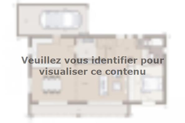 Plan de maison Bioclima 110 Design 4 chambres  : Photo 2