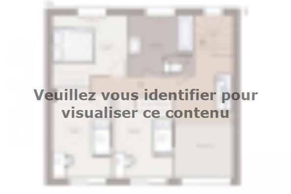 Plan de maison Bioclima 140 Tradition 4 chambres  : Photo 1