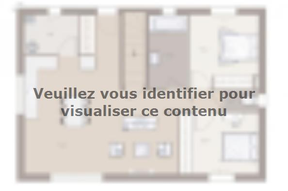 Plan de maison Domania 70 Tradition 2 chambres  : Photo 1