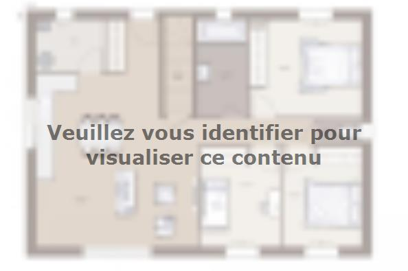 Plan de maison Domania 80 Tradition 3 chambres  : Photo 1