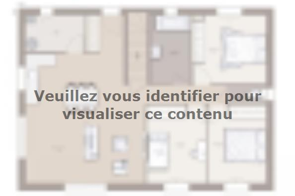 Plan de maison Domania 90 Tradition 3 chambres  : Photo 1