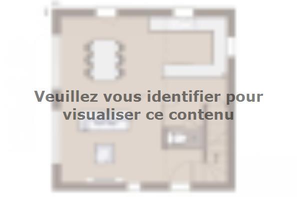 Plan de maison Domania 80 SS Tradition 2 chambres  : Photo 1