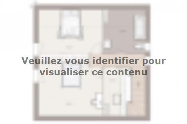 Plan de maison Domania 80 SS Tradition 2 chambres  : Photo 2
