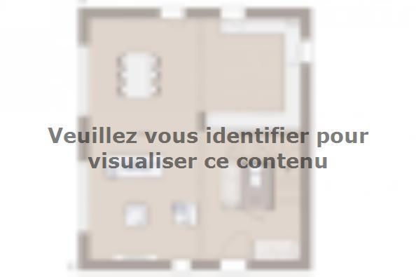 Plan de maison Domania 90 SS Tradition 3 chambres  : Photo 1