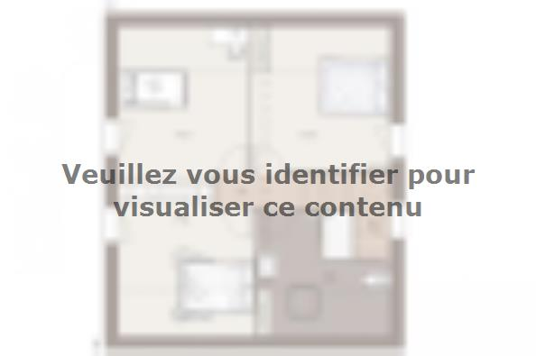 Plan de maison Domania 90 SS Tradition 3 chambres  : Photo 2