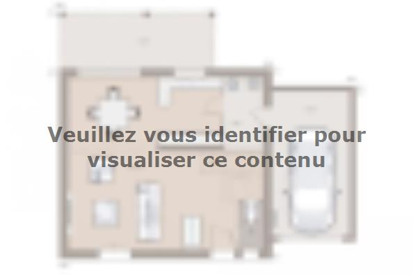 Plan de maison Family 90GA Design 3 chambres  : Photo 1