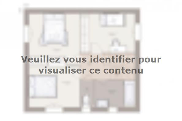 Plan de maison Family 90GA Tradition 3 chambres  : Photo 2