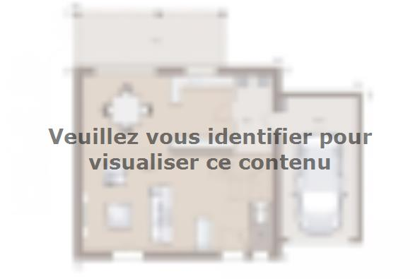 Plan de maison Family 95GA Tradition 3 chambres  : Photo 1