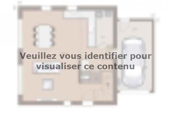 Plan de maison Family Evolution 80GA Tradition 2 chambres  : Photo 1