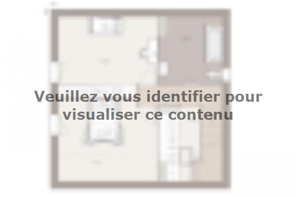 Plan de maison Family Evolution 80GA Tradition 2 chambres  : Photo 2