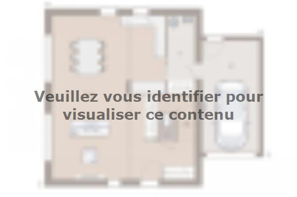 Plan de maison Family Evolution 90GA Tradition 3 chambres  : Photo 1