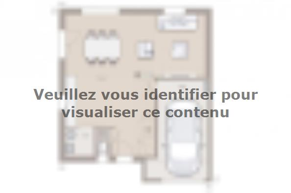 Plan de maison Family Evolution 85GI Tradition 2 chambres  : Photo 1