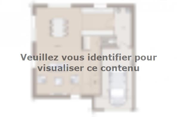 Plan de maison Family Evolution 95GI Tradition 3 chambres  : Photo 1