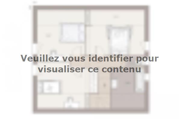 Plan de maison Family Evolution 95GI Tradition 3 chambres  : Photo 2