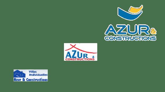 LOGOS AZUR ET CONSTRUCTIONS 25 ANS ANNIVERSAIRE