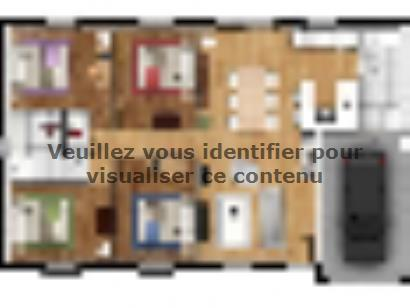Plan de maison EAS-92-PLP-GI 4 chambres  : Photo 1