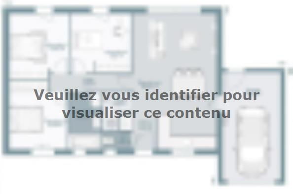 Plan de maison Actua 73 3 chambres  : Photo 1