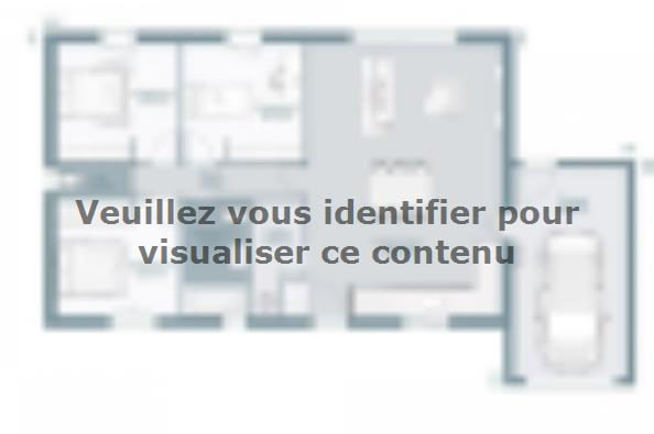 Plan de maison Actua 83 3 chambres  : Photo 1