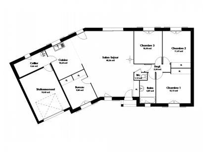 Maison neuve  à  Villaines-les-Rochers (37190)  - 186900 € * : photo 2