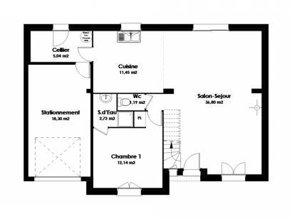 Maison neuve  à  Villaines-les-Rochers (37190)  - 191900 € * : photo 2
