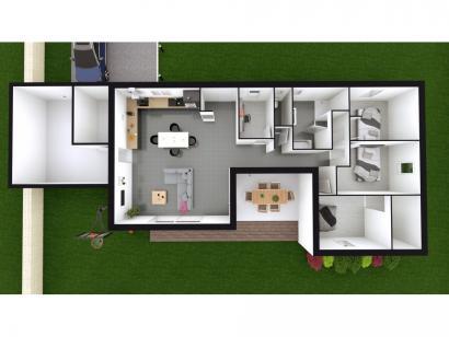 Modèle de maison INNOVA 6 3 chambres  : Photo 3