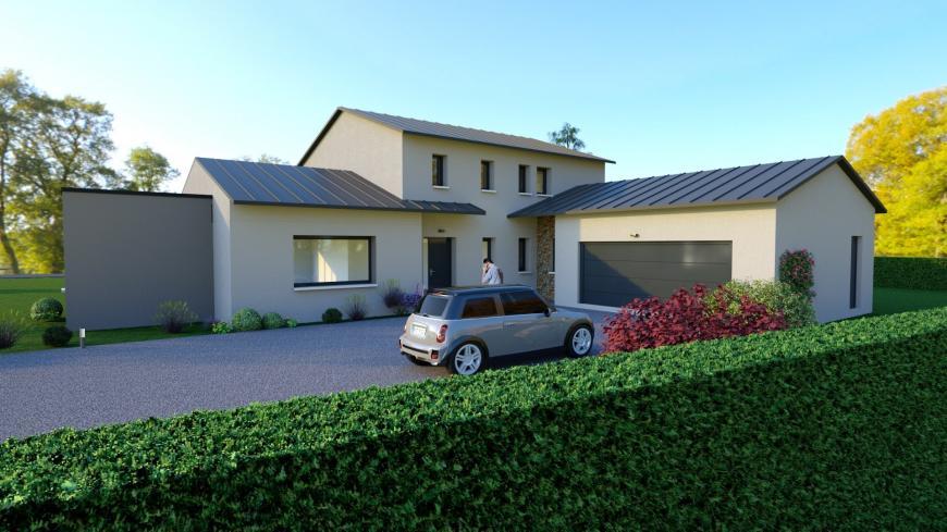 Plain-pied étage avec double garage