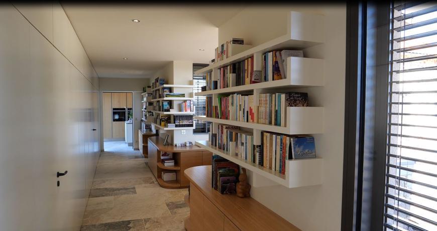 Construction d'une extension - Détails sur Couloir / Bibliothèque