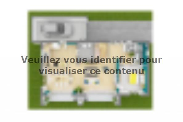 Plan de maison Bioclima 110 Design 4 chambres  : Photo 3