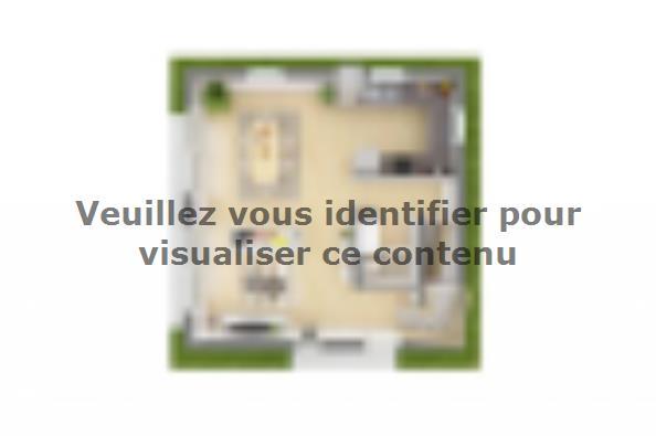 Plan de maison Domania 80 SS Tradition 2 chambres  : Photo 4