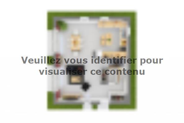Plan de maison Domania 90 SS Tradition 3 chambres  : Photo 4