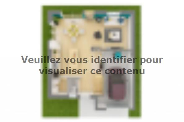 Plan de maison Family Evolution 85GI Tradition 2 chambres  : Photo 4