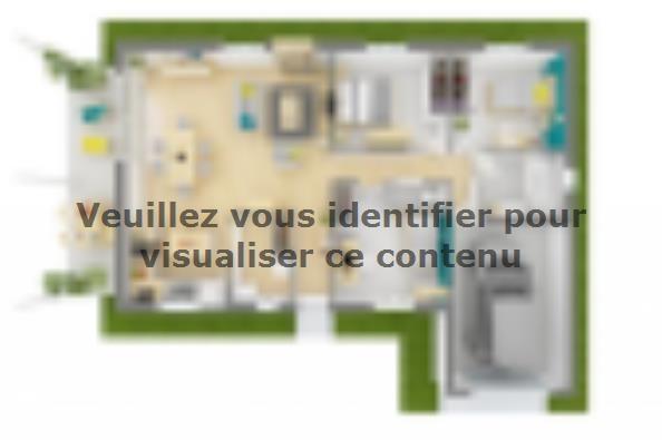 Plan de maison Lumina 90GI Design 3 chambres  : Photo 2