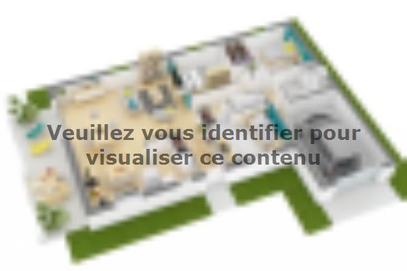 Plan de maison Lumina 90GI Design 3 chambres  : Photo 3