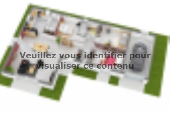 Plan de maison Lumina 95GI Design 3 chambres  : Photo 3