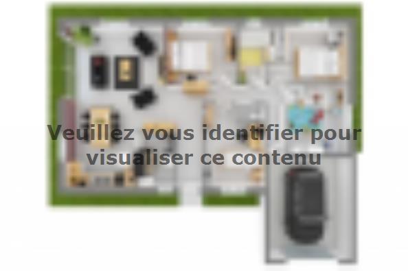 Plan de maison Lumina 100GI Design 4 chambres  : Photo 2