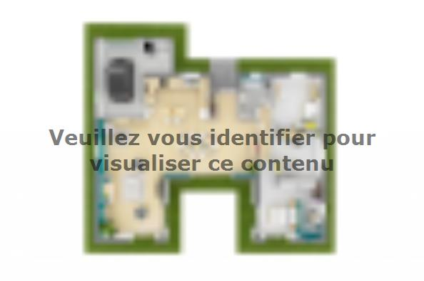Plan de maison Patio 140 Design 3 chambres  : Photo 2