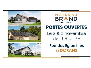 Portes Ouvertes Maisons BRAND le 2 & 3 novembre !