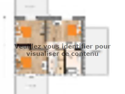 Plan de maison R1MP19132-4GA 4 chambres  : Photo 2