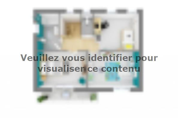 Plan de maison Bioclima 110 Design 4 chambres  : Photo 4