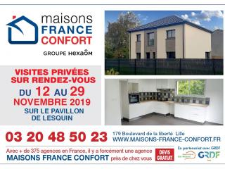 Visites privées d'un pavillon sur Lesquin (59) - Du 12 au 29 novembre