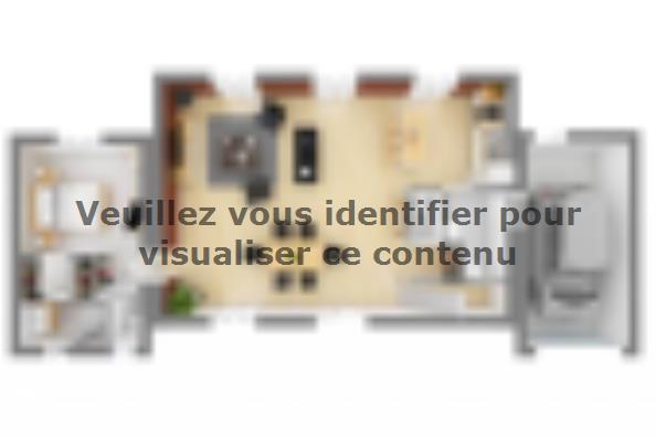 Plan de maison Bastide 125+20 5 chambres  : Photo 3