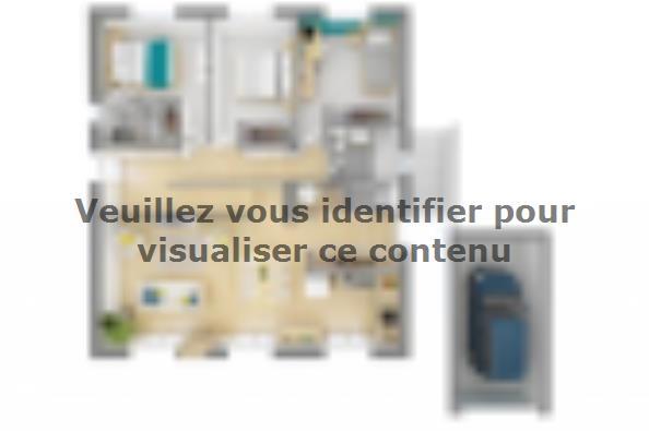 Plan de maison Lumina 100 3 chambres  : Photo 2