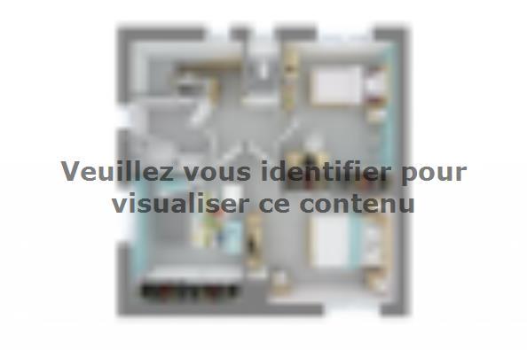 Plan de maison Méditerranée 110 4 chambres  : Photo 4